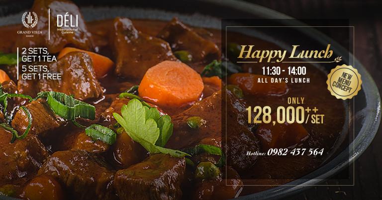 Happy Lunch – 2 sets get 1 tea, 5 sets get 1 free